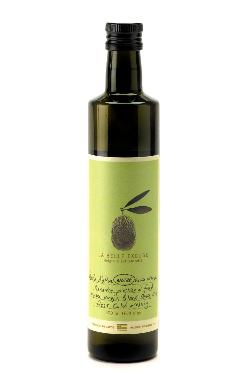 huile d 39 olive noire extra vierge premi re pression froid la belle excuse. Black Bedroom Furniture Sets. Home Design Ideas